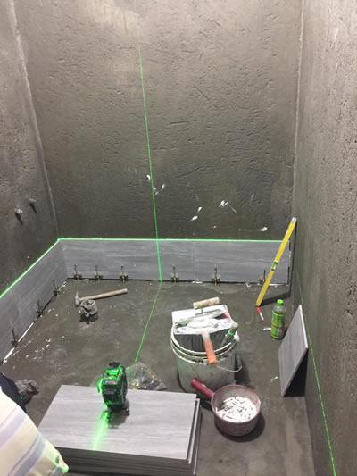 屏東浴室興建-貼磁磚