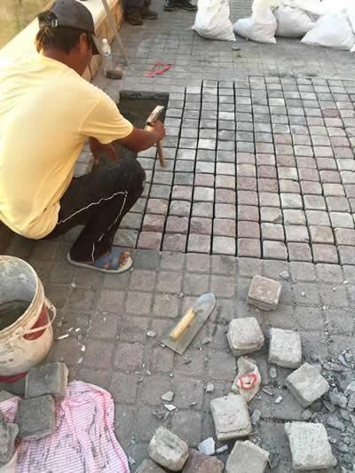 屏東墾丁H會館-麵包磚鋪貼-屏東泥作工程
