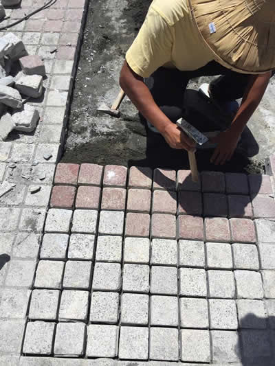 屏東墾丁H會館-麵包磚鋪貼-屏東鋪地磚