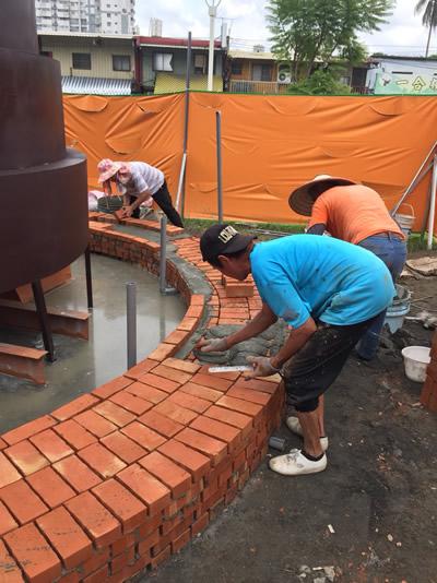 屏東公園生命樹-泥作工程