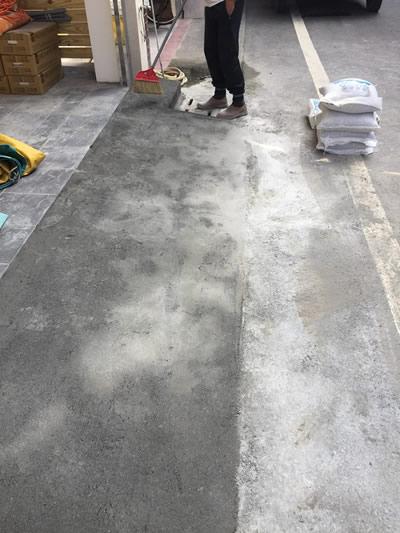 車道抿石工程-車道泥作工程