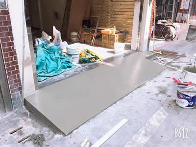 車道抿石工程-車道貼磁磚