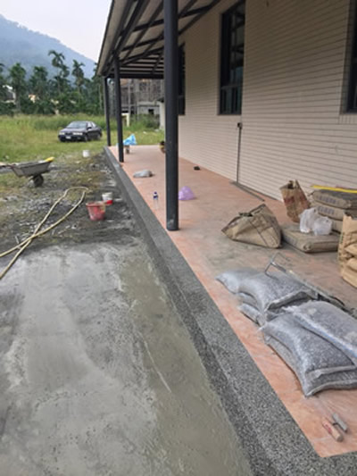 屏東高樹鄉抿石工程-斜坡泥作工程