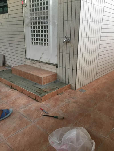 屏東高樹鄉抿石工程-斜坡貼磁磚
