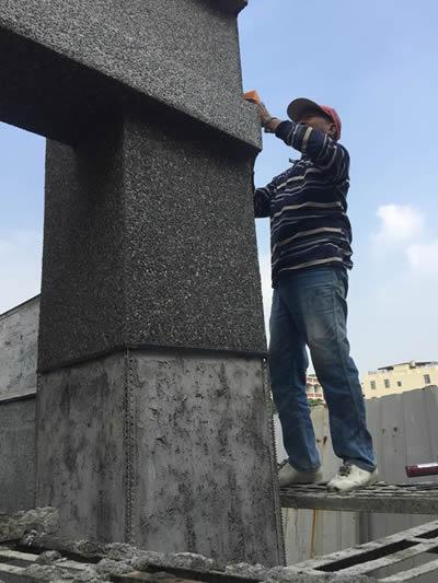 牌樓抿石工程-抿石子泥作工程