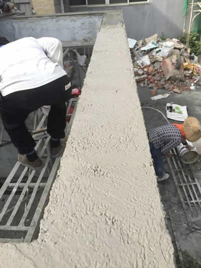 牌樓抿石工程-抿石子鋪地磚